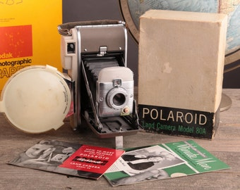 Polaroid 80A Instant Film Camera with Flash
