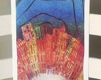 "8""x16"" Art Print - Cityscape (3)"