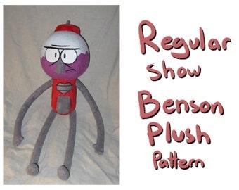 Regular show: Benson plush pattern