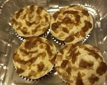 Carmel Cashew Cupcakes