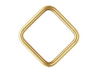 14k Gold Filled 20ga 8mm Closed Square Jump Rings 6pcs