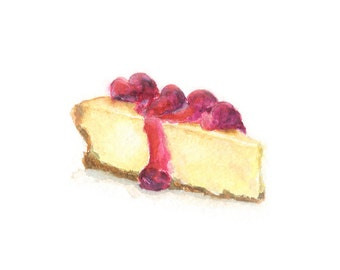Watercolor Cheesecake, Cheesecake Print,
