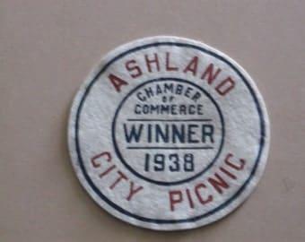 1938 Ashland,Ohio City Picnic Felt Patch