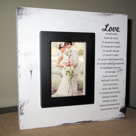 Wedding Photo Frame ONE 10x10 Holds 4x6 Photo by t