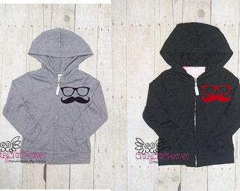 Mustache jacket, Custom jacket, Mermaid hoodie, Toddler jacket, Child, Baby, glasses jacket, School jacket, jacket, custom