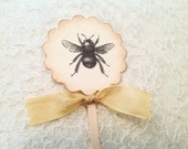 Wedding and Baby Shower Cupcake Toppers- mom to bee, Bruce to bee favors-Set of 12