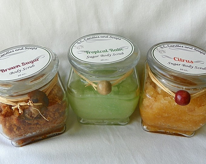 Sugar body scrub gift set
