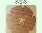 Sand Dollar (Small) Wood Cut Out -  Laser Cut