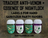 Tracker Jacker AntiVenom & Essence of Nightlock Labels DIY Favor Labels *Assembled Option Available*