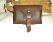 Belt- Hip Pouch or Case-Stoned Oil Leather- Handmade