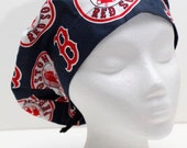Ladies Surgical Scrub Hat - Cap - Bouffant - Boston Red Sox