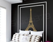 Eiffel Tower Wall Decal - Home Decor - Paris Wall Decor - Elegant Nursery Wall Decals - Vinyl Decals -  Gold Wall decal - 36x18