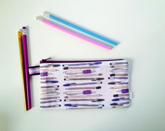 My Pencils and Pens Divided Pencil Case (handmade philosophy's pattern)