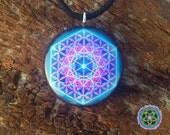 Metatrons Cube - Sacred Geometry - Orgone/Orgonite Tesla Pendant- EMF Blocker - Chakra Balancing - FREE Necklace - Hand Made