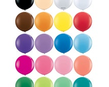 """Giant 36"""" Inch Latex Balloons - Round - White, Clear, Blush, Black, Brown, Orange, Yellow, Red, Purple, Blue, Pink, Coral, Mint, Green, Teal"""