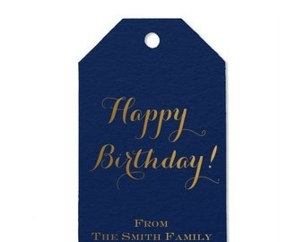 Happy Birthday Personalized Thank You/Favor Tag