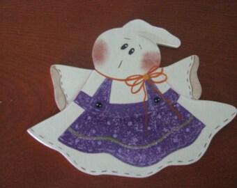 Ghost, halloween, apron, handpainted, glitter, wood