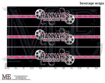 Hollywood Party, Water Bottle Labels