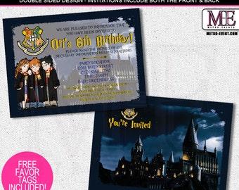 Harry Potter Invitations, Harry Potter Invites, Harry Potter Invitation, Invitations, Birthday Invitations, Harry Potter Party, Invitation