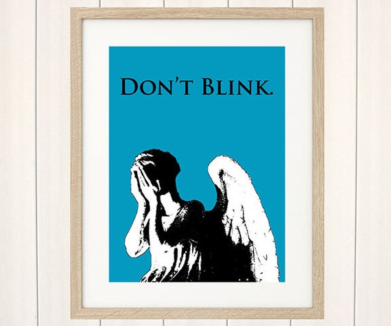 Doctor Who Weeping Angel Art Print, Digital Illustration, Movie Poster, Art Print, Illustration, Original Artwork, Fanart