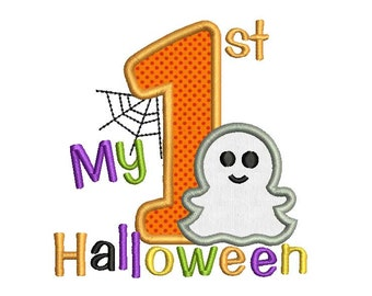 My First Halloween Applique Embroidery Design HAL006