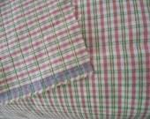 Fabric cotton odd piece cut piece, plaid design