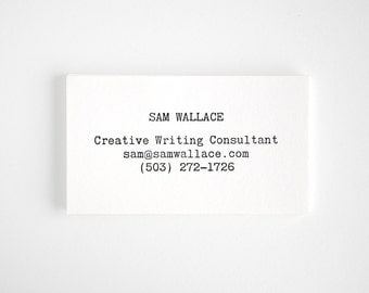 Typewriter Letterpress Business Cards - Editor Style - Modern Typography - POST