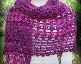 Pattern only - Danica Shawl pattern crochet pattern shawlette scarf