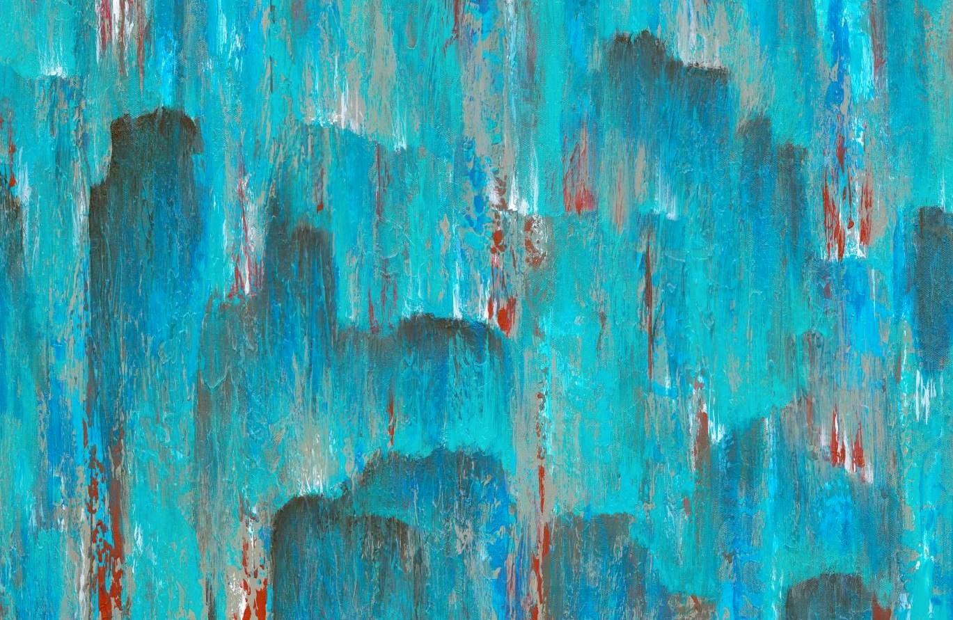 Turquoise and red wall decor large wall art by artfromdenise for Red wall art