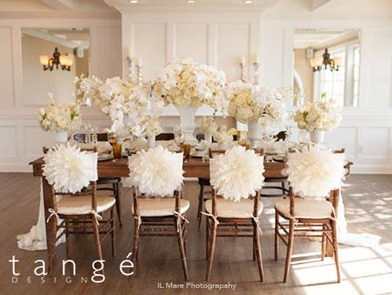 Peony Flower Wedding Chair Cover Chiavari Chair By