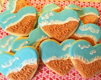 Beachy Wedding Cookies (2Dozen)