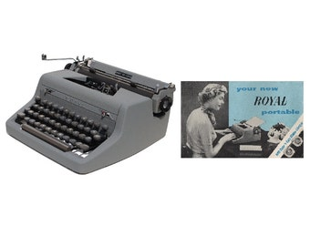 Royal Quiet De Luxe Typewriter Instruction Manual Instant Download