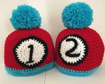 Thing one & Thing two Beanie Pattern
