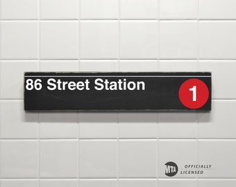 86 Street Station - New York City Subway Sign - Wood Sign