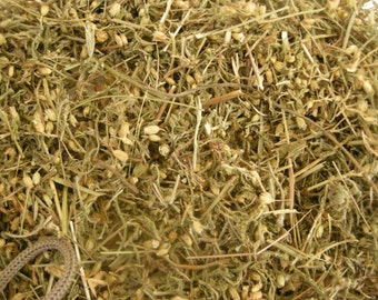 Yarrow Flowers, Leaves, and Stems, Dried Herb, Dried Flowers