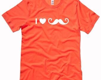 I Heart Moustache MENS T-Shirt