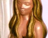 Vintage 1976 Chalkware Mermaid Thermometer By Miller Studios