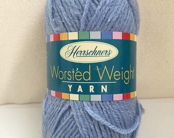 Herrschners Worsted Weight Yarn 100% Acrylic Light Blue