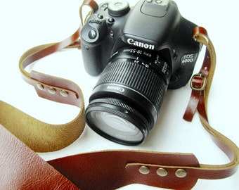 Brown  Leather   Camera Strap