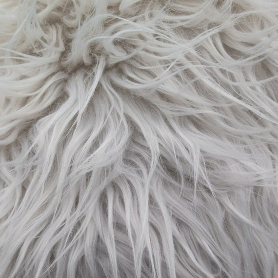 faux fake fur bleach white mongolian 60 inch fabric by the. Black Bedroom Furniture Sets. Home Design Ideas
