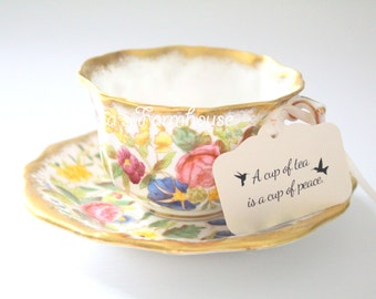 Rare Vintage,Tea Cup and Saucer by Hammersley & Co., English Bone China, Replacement China, Collectible - c. 1939 - 1954