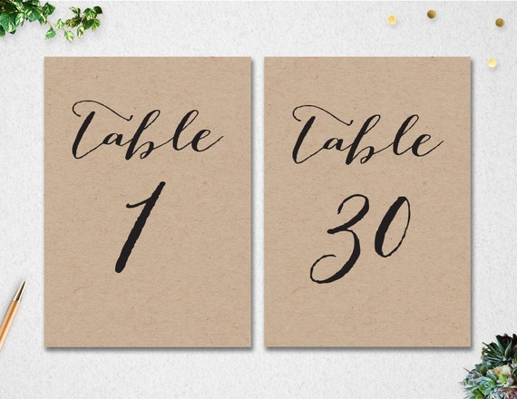 Table Numbers 1-30 // INSTANT DOWNLOAD // 5x7 // Wedding
