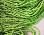 Preciosa Seed Beads, Size 11/0 in Opaque Avocado, #53310 - 1/2 & Full Hanks are available from the 'Select an Option' menu