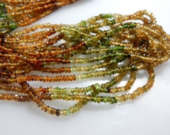 AAA Quality Petrol Tourmaline Faceted Roundelle Beads  14'' Size  3MM Approx