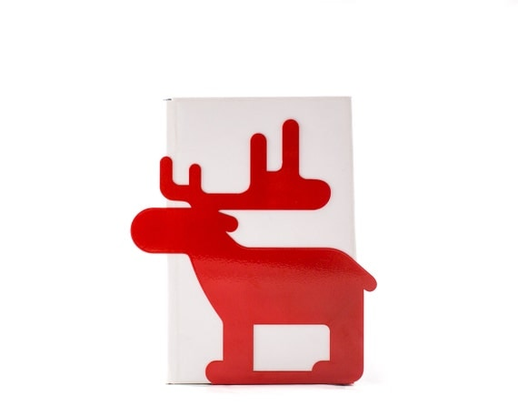 A Metal Bookend _Moose_.  // Woodland theme functional decor for modern home // nursery / children's room // Christmas decor //FREE SHIPPING