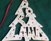 Portland, handcrafted tree shaped ornament