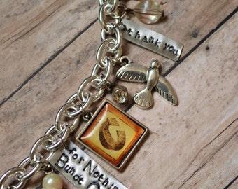 Charm Bracelet, Personalized Jewelry, Boss Appreciation Gift, Thank You Gift, Retirement Gift, Military Appreciation, Scorpio, Zodiac Charms