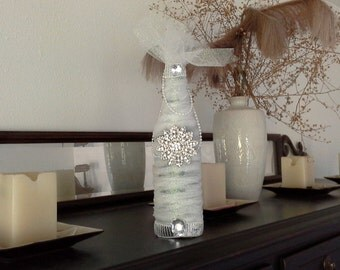 Wedding Center piece Beautiful Decorative Bottle one of a kind by signart04andmore on Etsy
