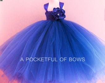 Royal Blue Flower Girl Tutu Dress, Girls Formal Dress, Girls Ball Gown
