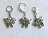 Sheep Charm Stitch Marker or Progress Keeper MADE TO ORDER